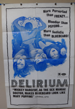 Delirium Horror Poster - US One Sheet
